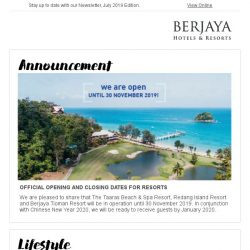 [Berjaya Hotels & Resorts EDm] Have a joyous July everyone!