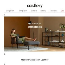 [Castlery] Get Comfy in Style with our Armchairs