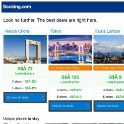 [Booking.com] Naxos Chora, Tokyo, or Kuala Lumpur? Get great deals, wherever you want to go