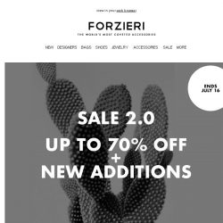 [Forzieri] 2000+ New Styles now up to 70% OFF