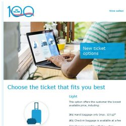 [KLM] Choose the ticket that fits you best!