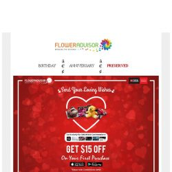 [Floweradvisor] Have a DBS Card? Here 15% OFF For Gift!