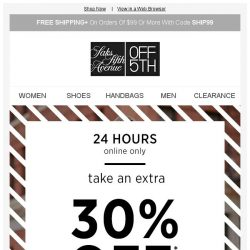 [Saks OFF 5th] Today only: up to 85% OFF contemporary apparel. Your closet needs this.