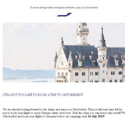 [Finnair] Our offers to Germany are about to end