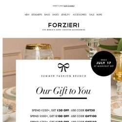[Forzieri] Your 500€ gift inside this email