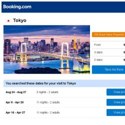[Booking.com] Deals in Tokyo from S$ 192