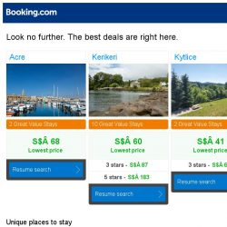 [Booking.com] Acre, Kerikeri, or Kytlice? Get great deals, wherever you want to go