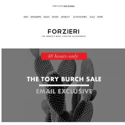 [Forzieri] 48h only | The Tory Burch Event | Extra 10% Off