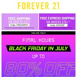[FOREVER 21] GET 80% OFF, IT'S LIT 