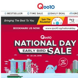 [Qoo10] EARLY BIRD SALE! Shop for National Day Essentials Now!