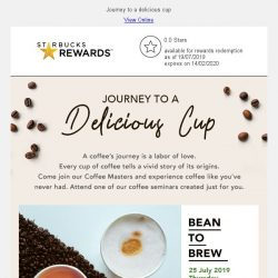 [Starbucks] Come join us and experience coffee like you've never had