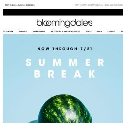 [Bloomingdales] Save up to 70%--ends tomorrow