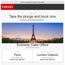 [Emirates] Special fares just for you