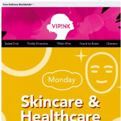 [SaSa ] 【Monday Offer】Skincare & Healthcare Selected Products SAVE $30