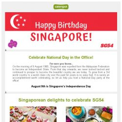 [CaterSpot] 🇸🇬National Day Celebrations at the Office