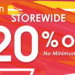 Guardian: Enjoy 20% OFF Storewide with No Minimum Spend In Stores & Online!