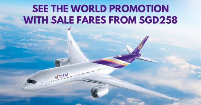 Thai Airways: See the World Promotion with Sale Fares to