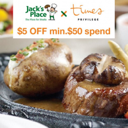 Jack's Place: Times Bookstore & GoGuru Members Enjoy $5 OFF with Min. $50 Spend!