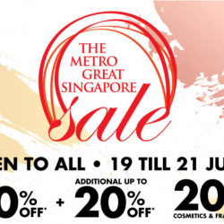 Metro: The Great Singapore Sale Event with Up to 80% OFF Storewide + 20% OFF Cosmetics & Fragrances + Exclusive $40 OFF for BargainQueen Fans!