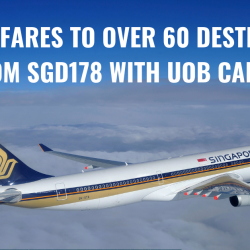 Singapore Airlines: Enjoy Special Fares to Over 30 Destinations from S$178 with UOB Cards!