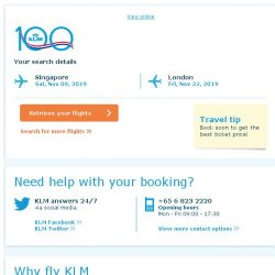 [KLM] Still interested in travelling to London?