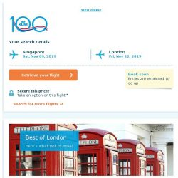 [KLM] Last seats to London, book soon