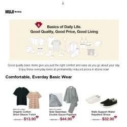 [Muji] MUJI | Enjoy Everyday Items at Permanently Reduced Prices!
