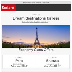 [Emirates] Limited-time special fares