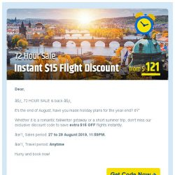 [cheaptickets.sg] 📢 AUG 72-HR SALE ► Get extra $15 instant flight discount!