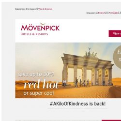 [Mövenpick Hotels & Resorts] Only 3 days left: Get 30% off your stay now!