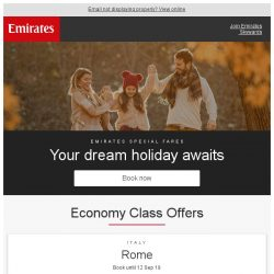 [Emirates] Start planning your dream holiday from SGD 989 return*