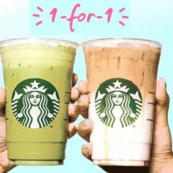 Starbucks: Enjoy 1-for-1 Venti-sized Handcrafted Beverage from 3pm to 7pm!