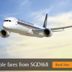 Singapore Airlines: Two-To-Go Fares to Over 80 Destinations from SGD148!