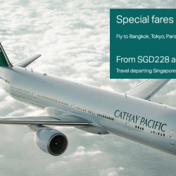 Cathay Pacific: Special Fares to Bangkok, Tokyo, Paris & More from SGD228 All-In!