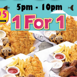 The Manhattan FISH MARKET: Enjoy 1-for-1 on Weekdays from 5pm to 10pm!
