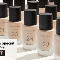 Innisfree Singapore: Enjoy 40% OFF All My Foundation Products!