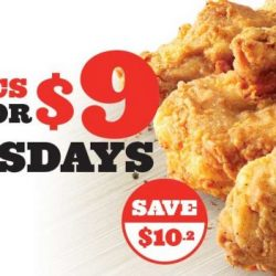 KFC: Get 6 Pieces of Original Recipe or Hot & Crispy Chicken on Tuesdays for just $9!