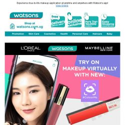 [Watsons] Glam it up with #Colourme! 33% off + EXTRA 10%