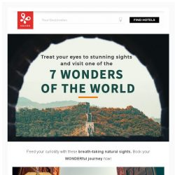 [Kaligo] , enjoy up to 9,575 miles and visit one of the WONDERS of the World!