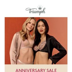 [Triumph]  Our Anniversary Sale is back! Receive $100 Triumph voucher when you spend $100!