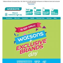 [Watsons] 1 Day only! 😱 2nd Buy @ 50% OFF! & extra 5% off!