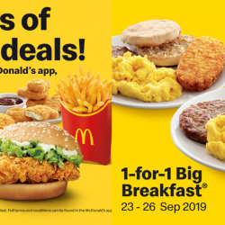 McDonald's: Redeem 1-for-1 Big Breakfast at McDonald's App!