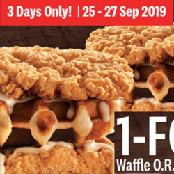 KFC: Enjoy 1-for-1 Waffle O.R. Double Down for 3 Days Only!