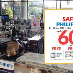Courts: SAFRA Philips Sale with Up to 60% OFF Philips Products!