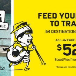Scoot: 64 Destinations on Sale with All-In Fares from SGD52!