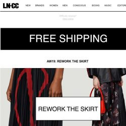 [LN-CC] Rework the Skirt and Chunky Shoes + Free Shipping for a Limited Time Only