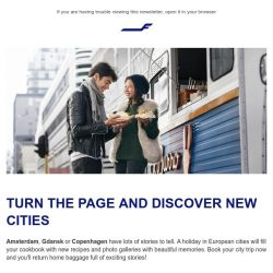 [Finnair] Book flights for an urban adventure