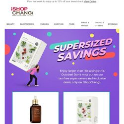 [iShopChangi] Hey Yongning! We've got savings so out of this 🌏it'll knock you out of orbit! 🚀