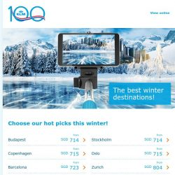 [KLM] The best winter destinations at great fares!