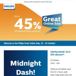 [PHILIPS] , save up to 45%, for 5 days only! Plus daily limited time deals that you won't want to miss!